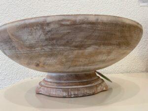 Mísa dřevěná, bílá patina, Matilde M. France, 2.400,-